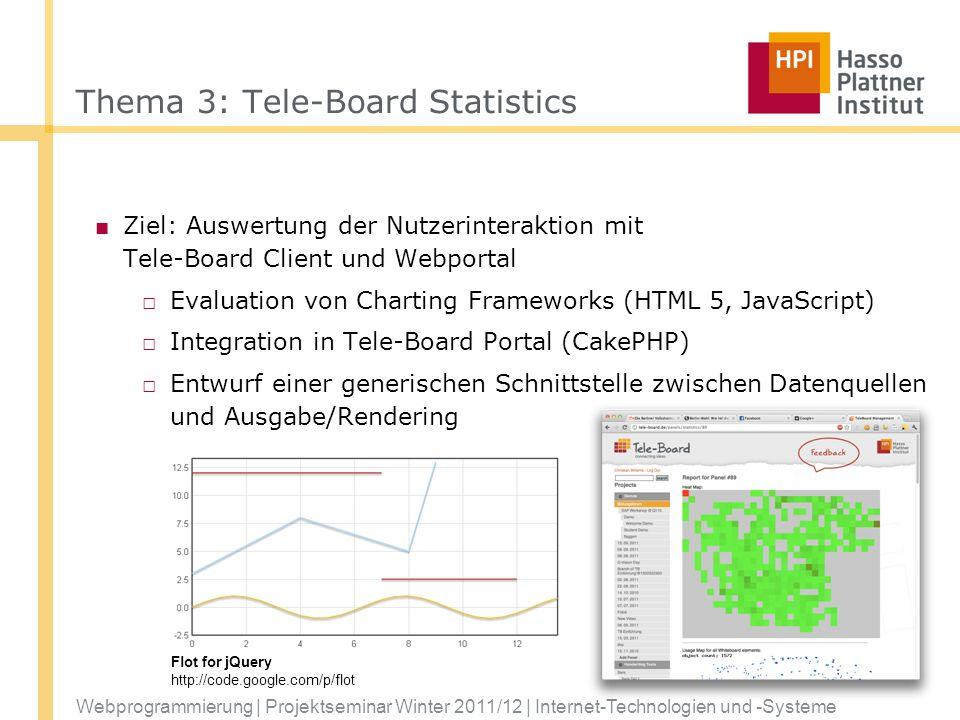 Thema 3: Tele-Board Statistics