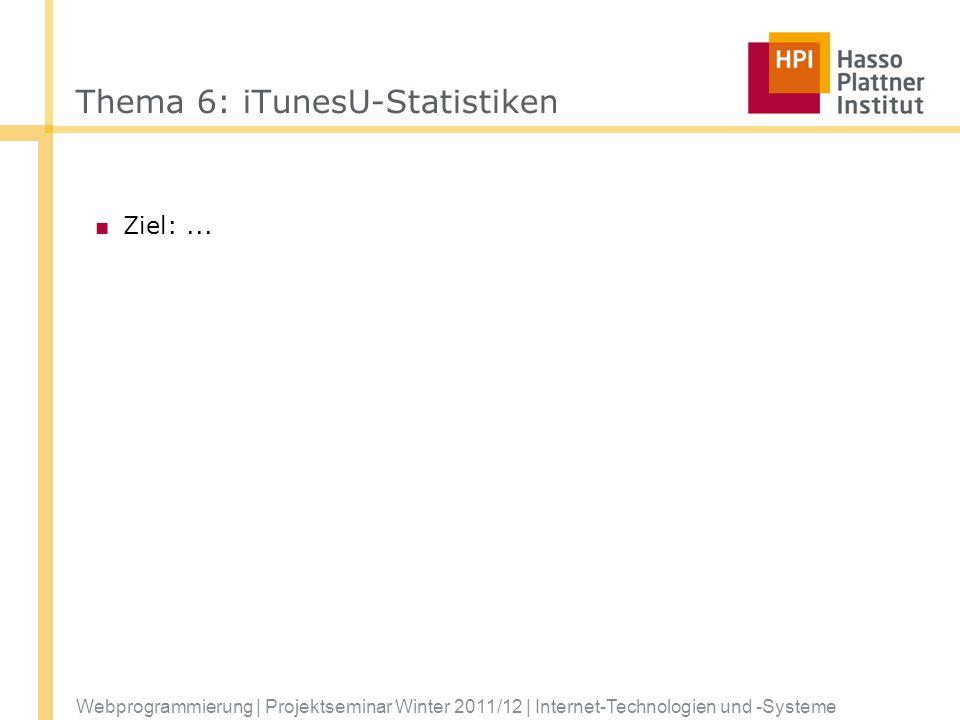 Thema 6: iTunesU-Statistiken