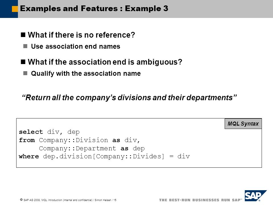 Examples and Features : Example 3