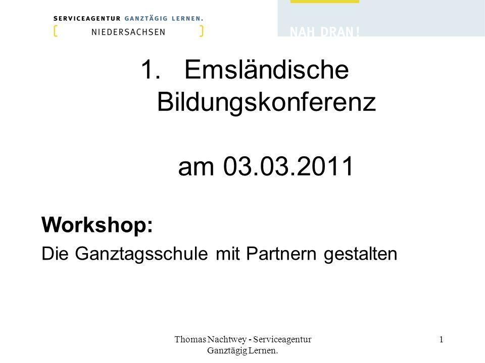 Emsländische Bildungskonferenz am 03.03.2011