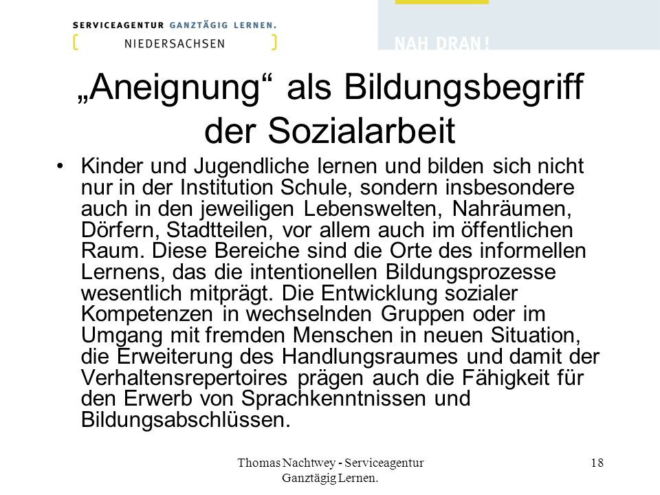 """""""Aneignung als Bildungsbegriff der Sozialarbeit"""