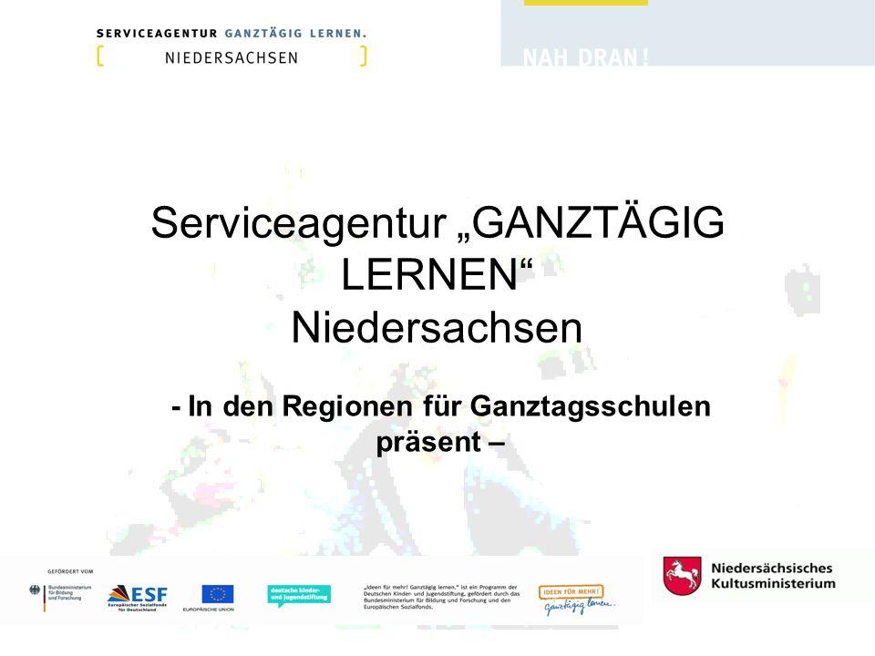 """Serviceagentur """"GANZTÄGIG LERNEN Niedersachsen"""