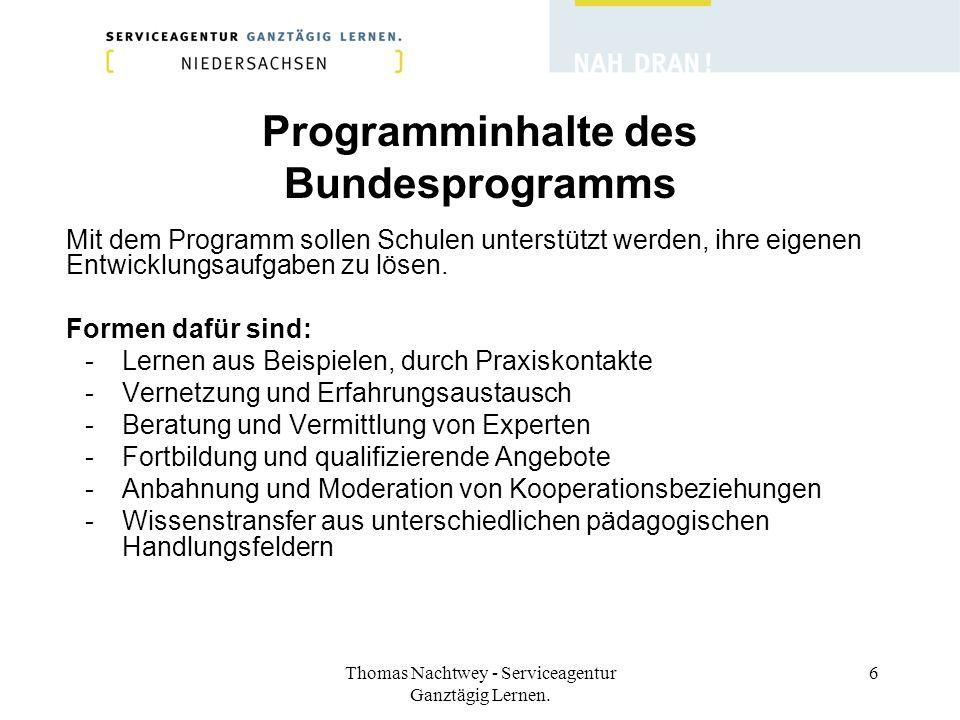 Programminhalte des Bundesprogramms