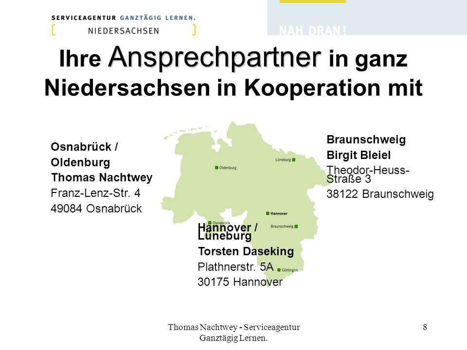 Ihre Ansprechpartner in ganz Niedersachsen in Kooperation mit