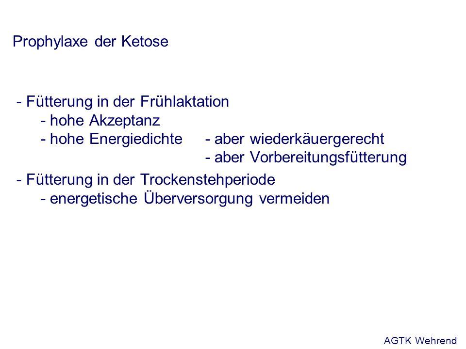 Prophylaxe der Ketose