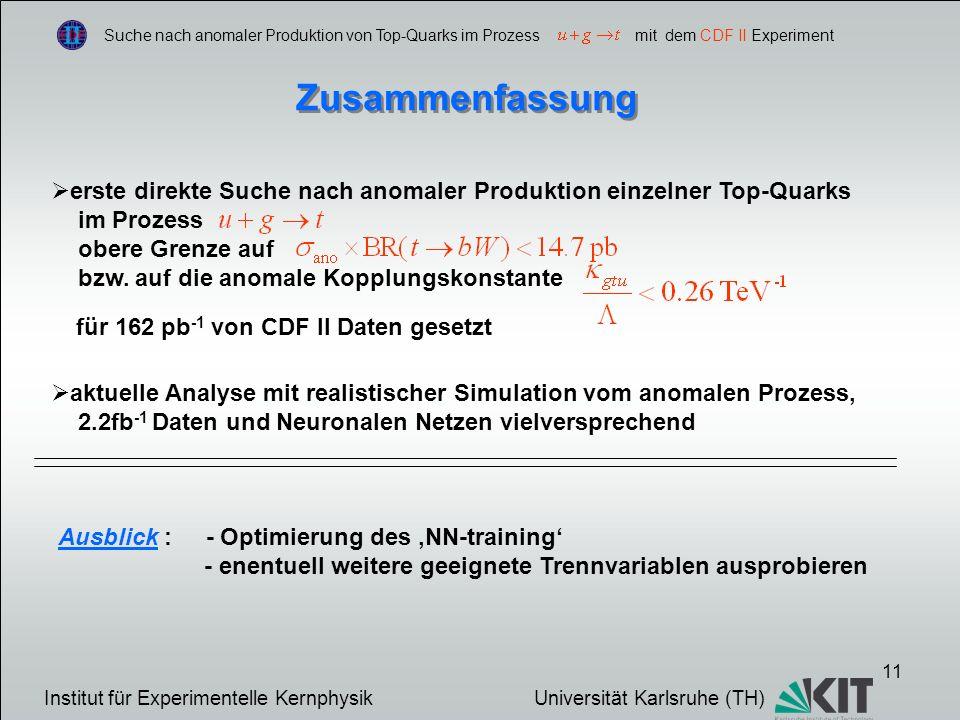Suche nach anomaler Produktion von Top-Quarks im Prozess mit dem CDF II Experiment