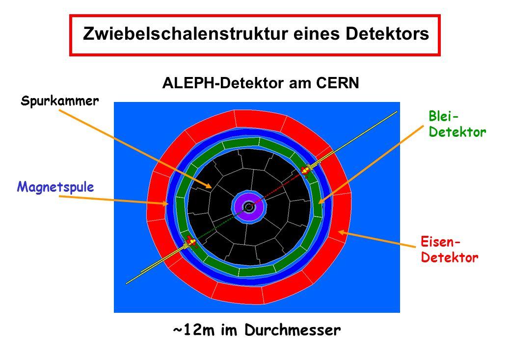 Zwiebelschalenstruktur eines Detektors ALEPH-Detektor am CERN