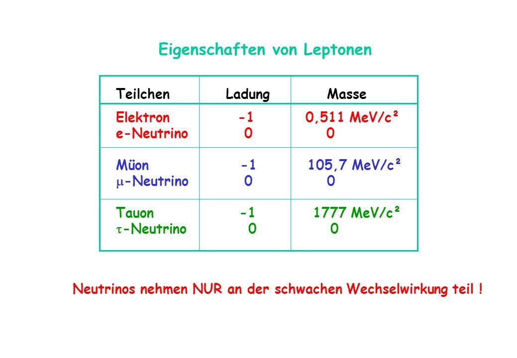 Eigenschaften von Leptonen