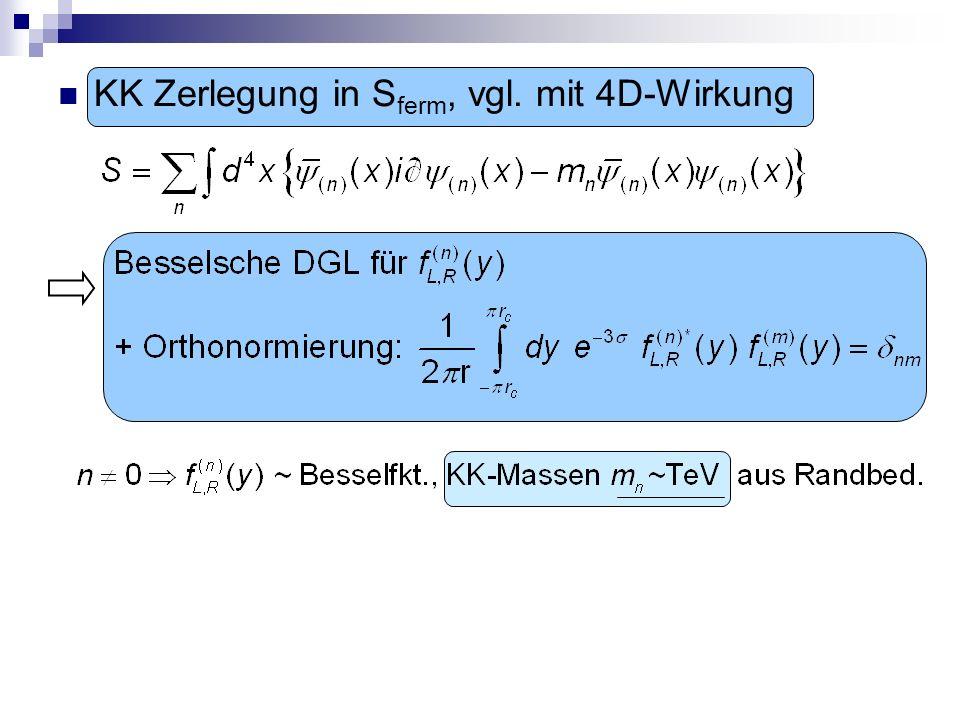 KK Zerlegung in Sferm, vgl. mit 4D-Wirkung