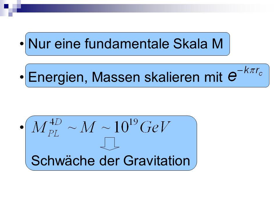 Nur eine fundamentale Skala M