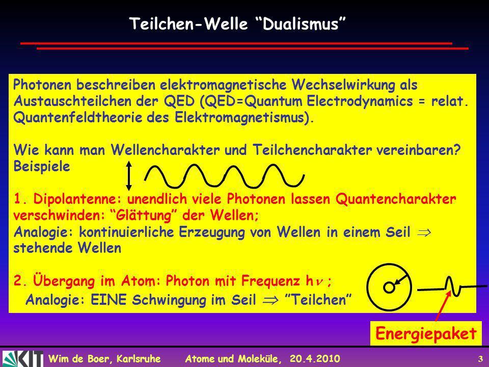Teilchen-Welle Dualismus