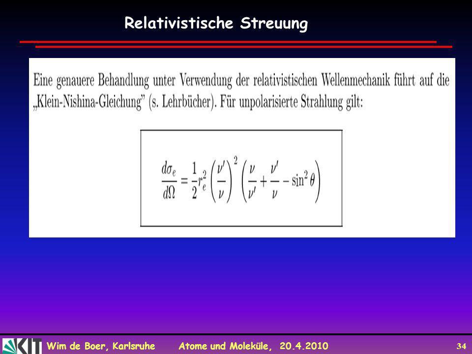 Relativistische Streuung