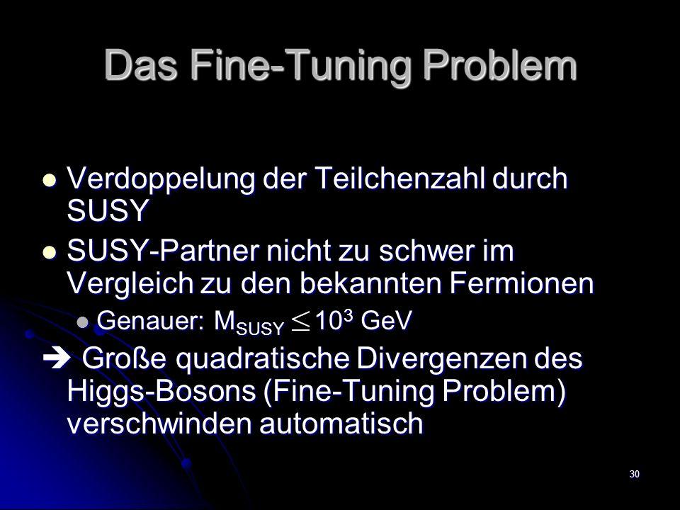 Das Fine-Tuning Problem