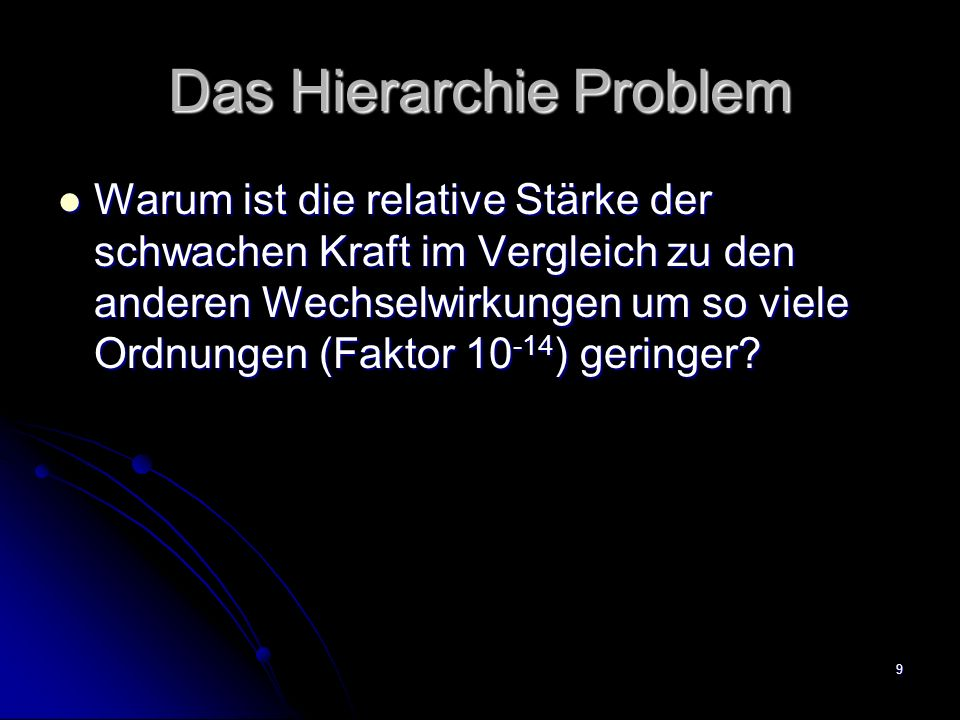 Das Hierarchie Problem