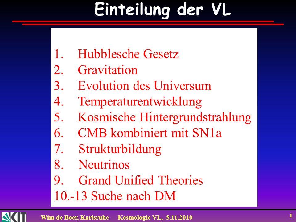 Einteilung der VL Hubblesche Gesetz Gravitation