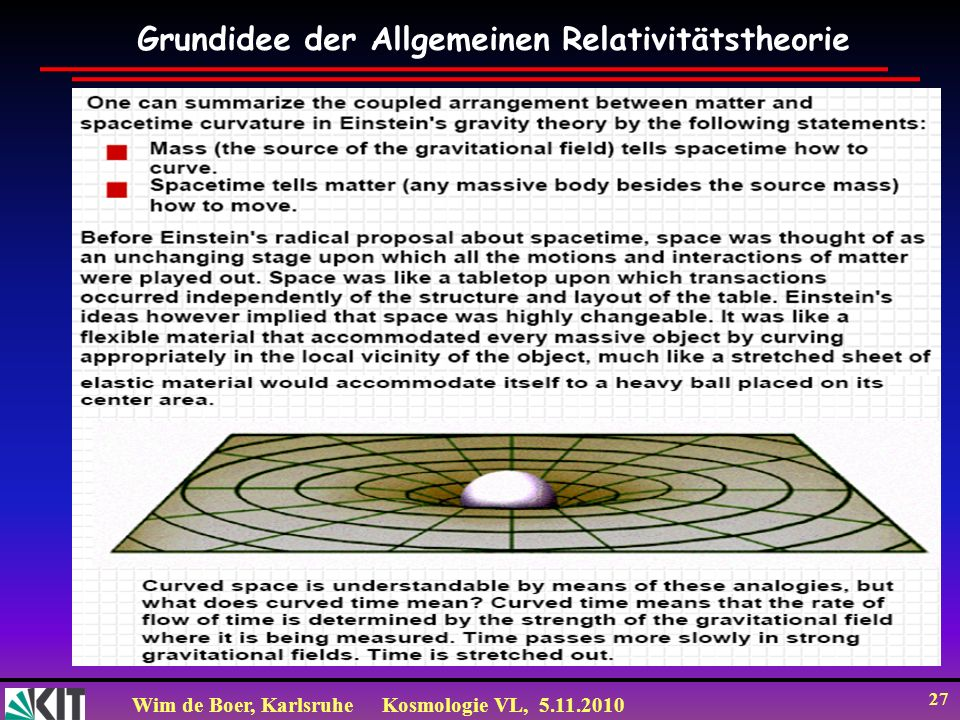 Grundidee der Allgemeinen Relativitätstheorie