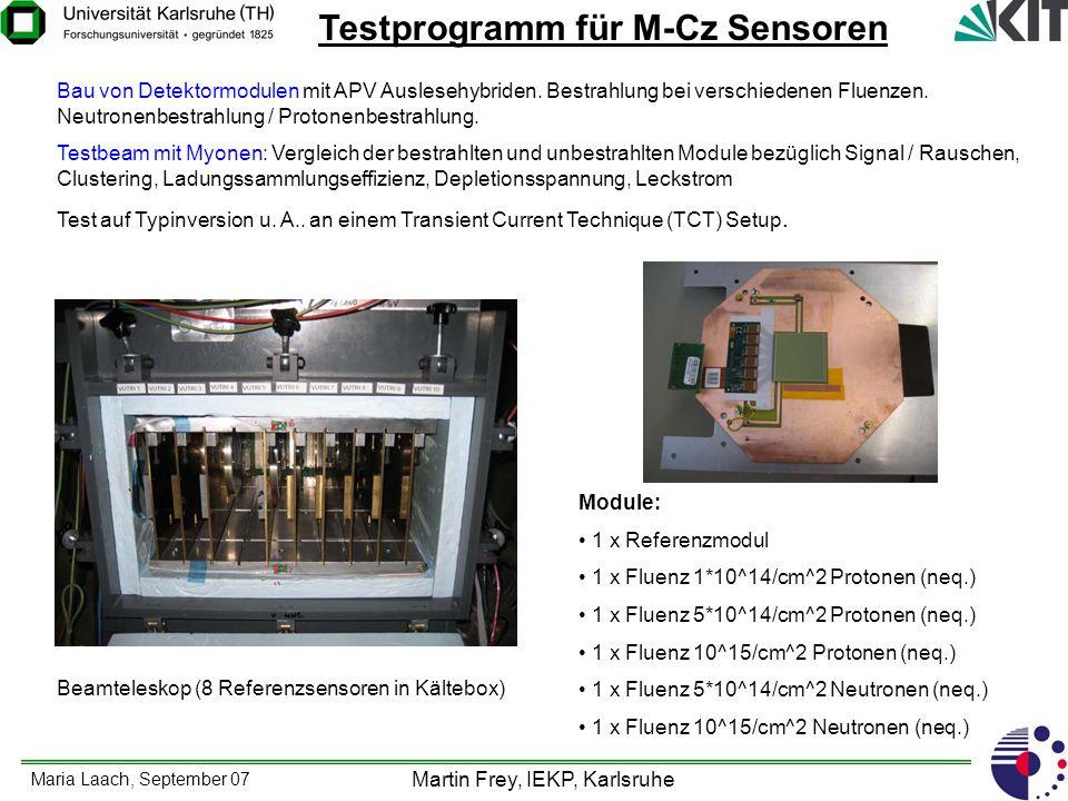 Testprogramm für M-Cz Sensoren