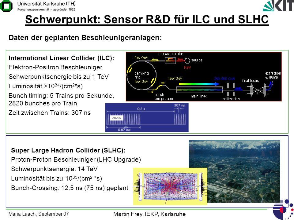 Schwerpunkt: Sensor R&D für ILC und SLHC