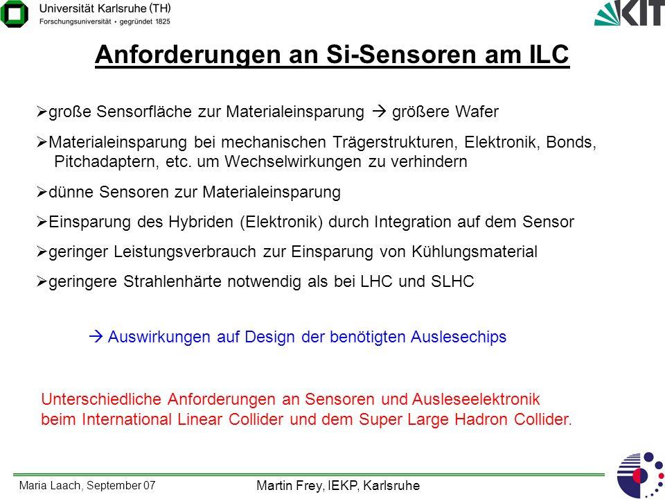 Anforderungen an Si-Sensoren am ILC