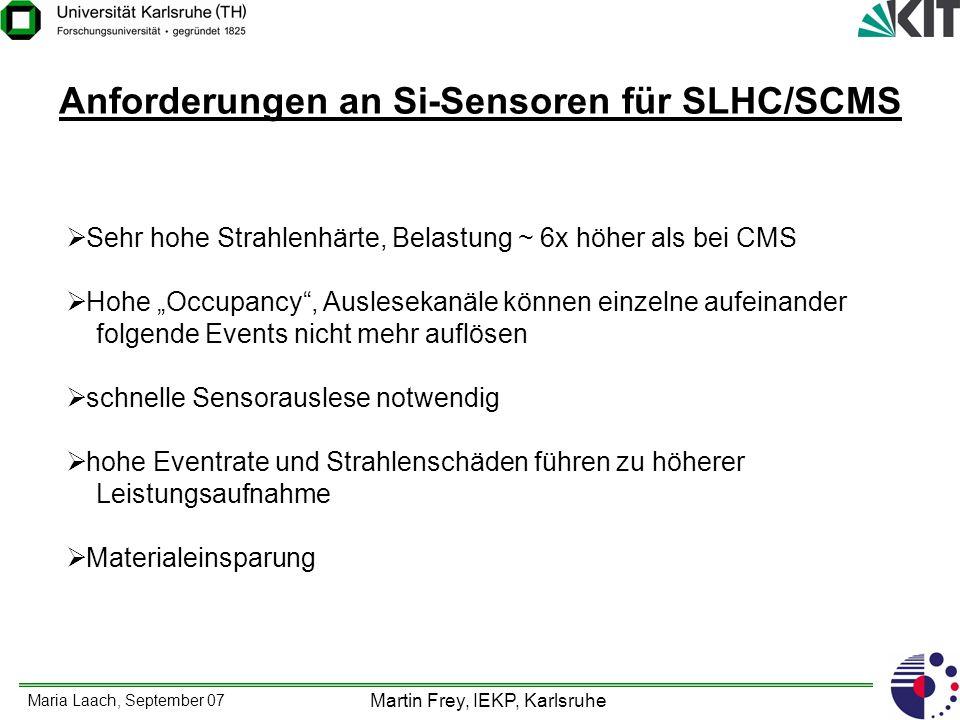 Anforderungen an Si-Sensoren für SLHC/SCMS