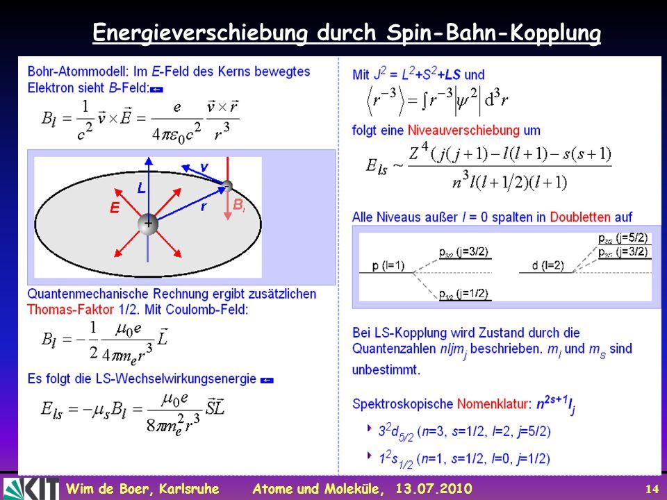 Energieverschiebung durch Spin-Bahn-Kopplung