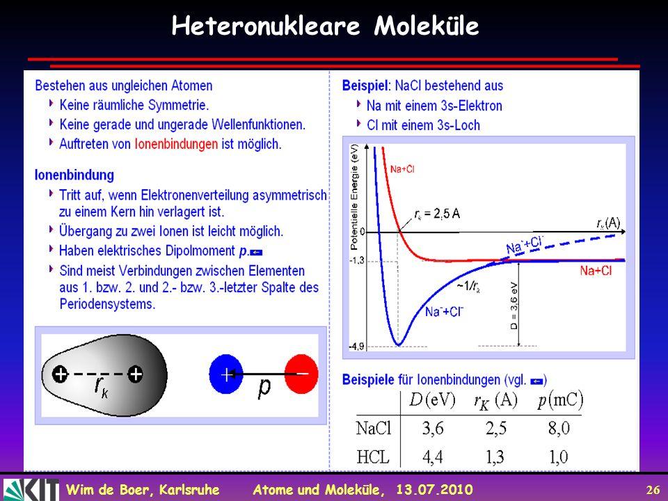 Heteronukleare Moleküle