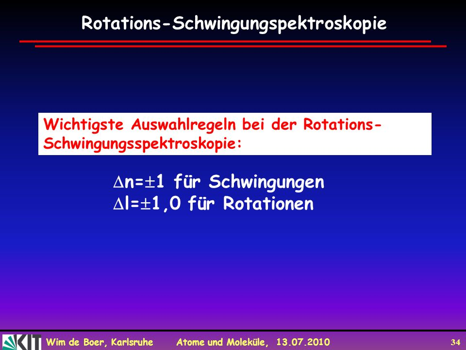 Rotations-Schwingungspektroskopie