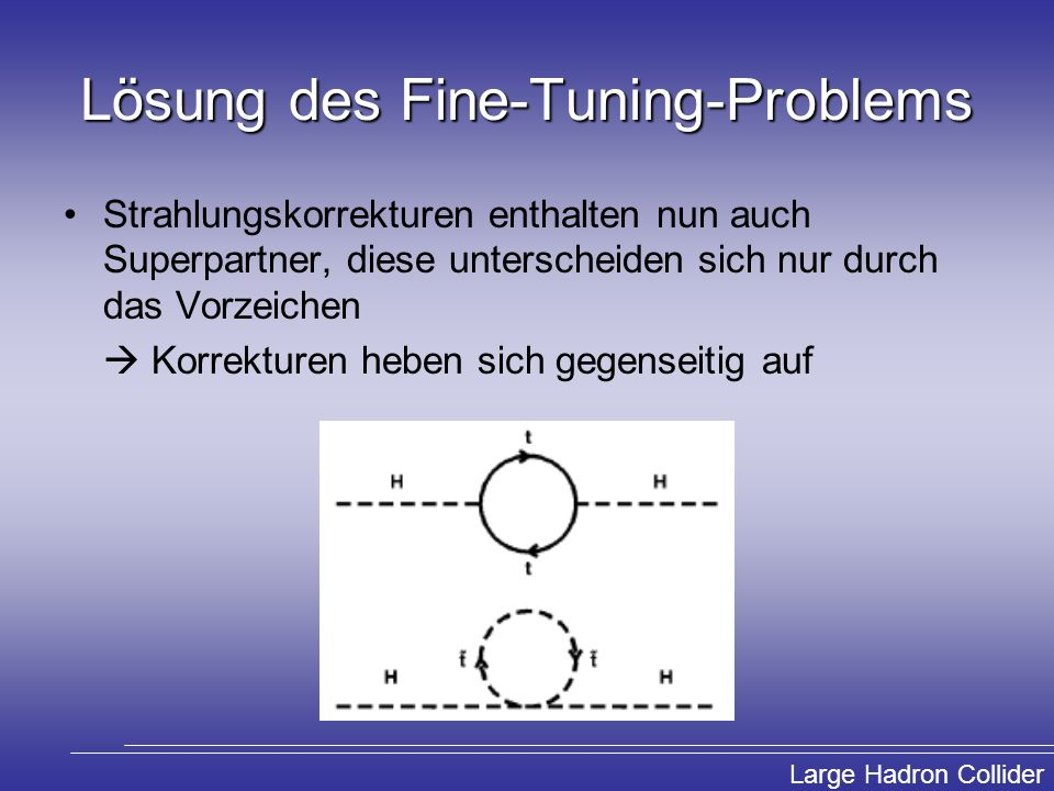 Lösung des Fine-Tuning-Problems