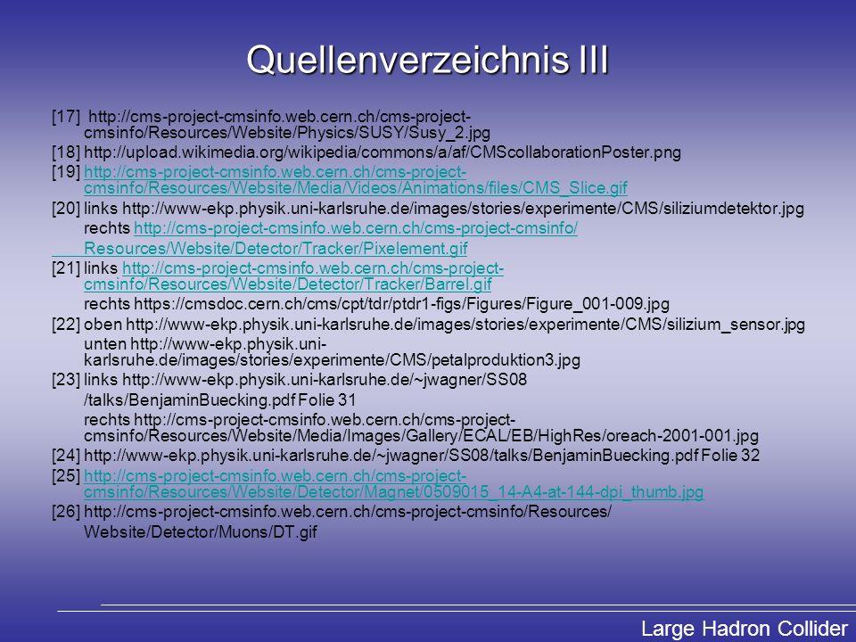 Quellenverzeichnis III