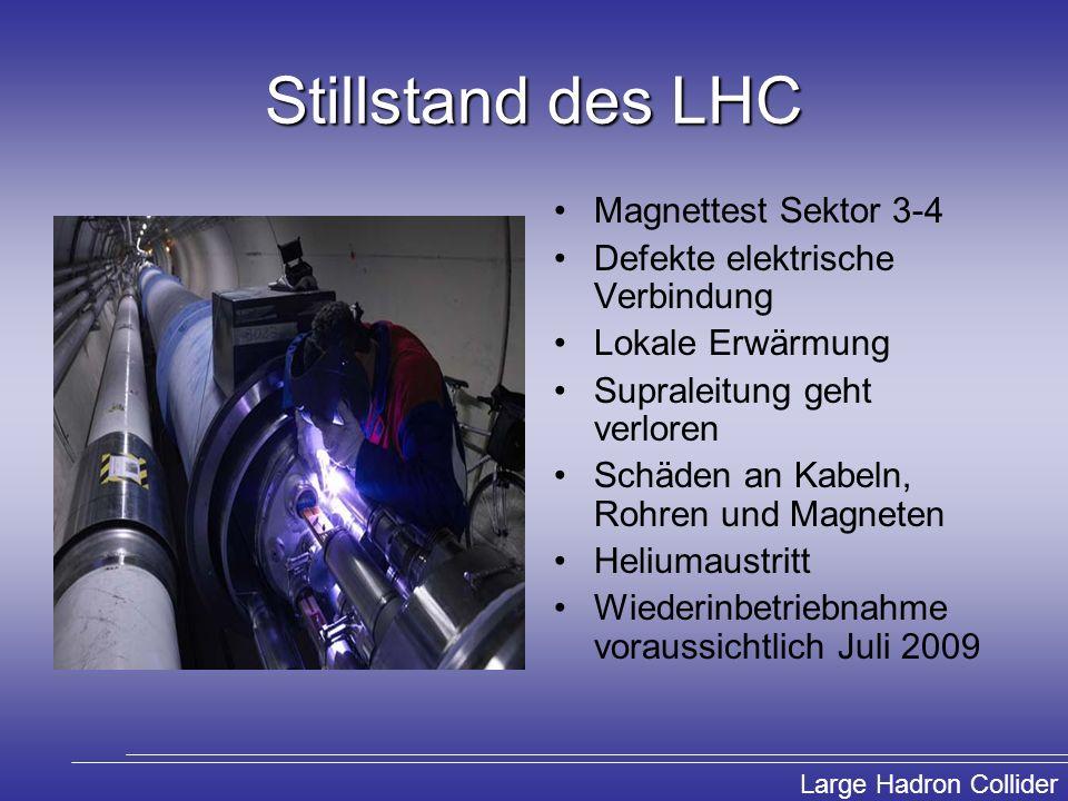 Stillstand des LHC Magnettest Sektor 3-4