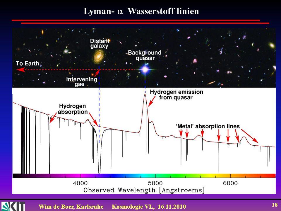 Lyman- Wasserstoff linien