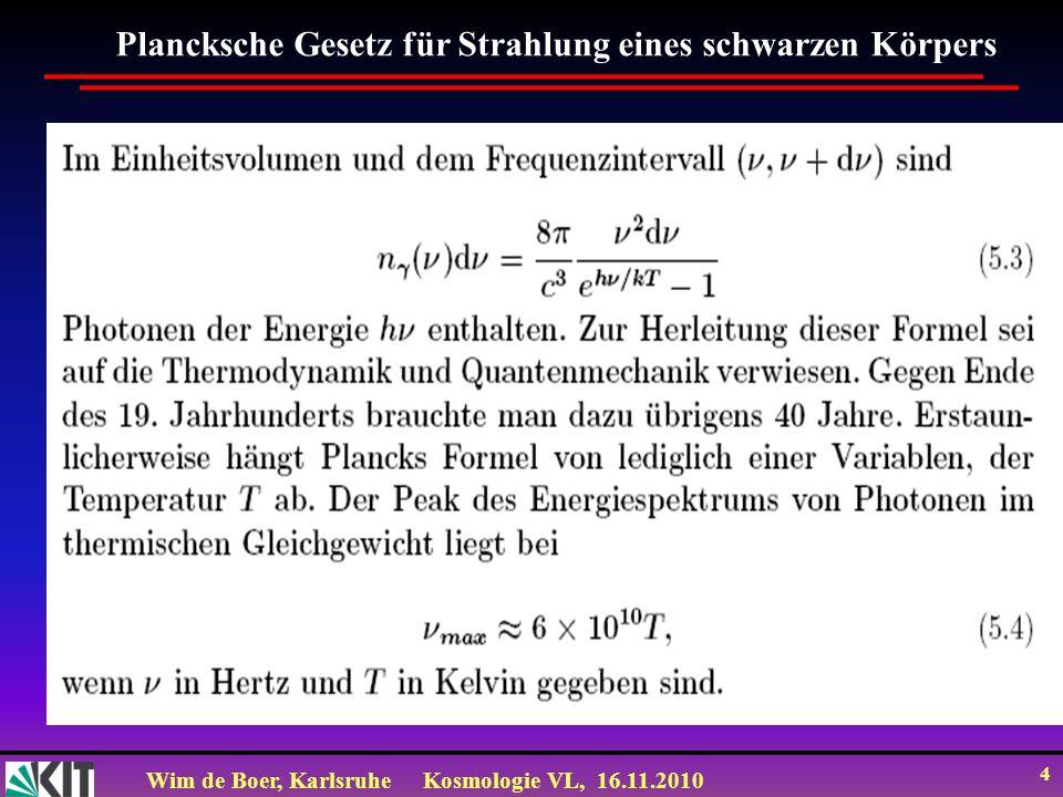 Plancksche Gesetz für Strahlung eines schwarzen Körpers