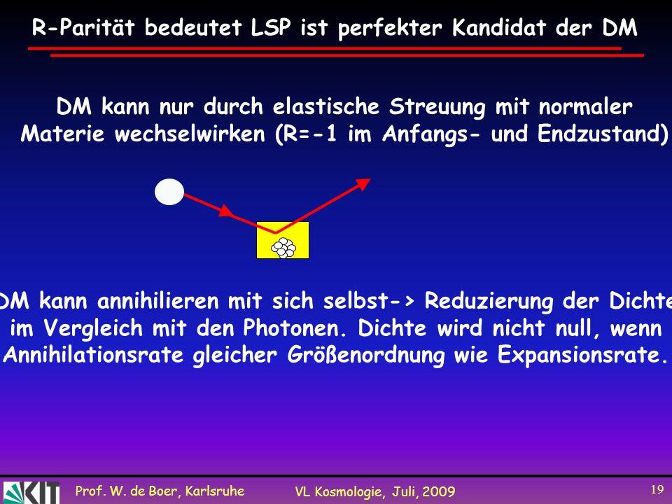 R-Parität bedeutet LSP ist perfekter Kandidat der DM