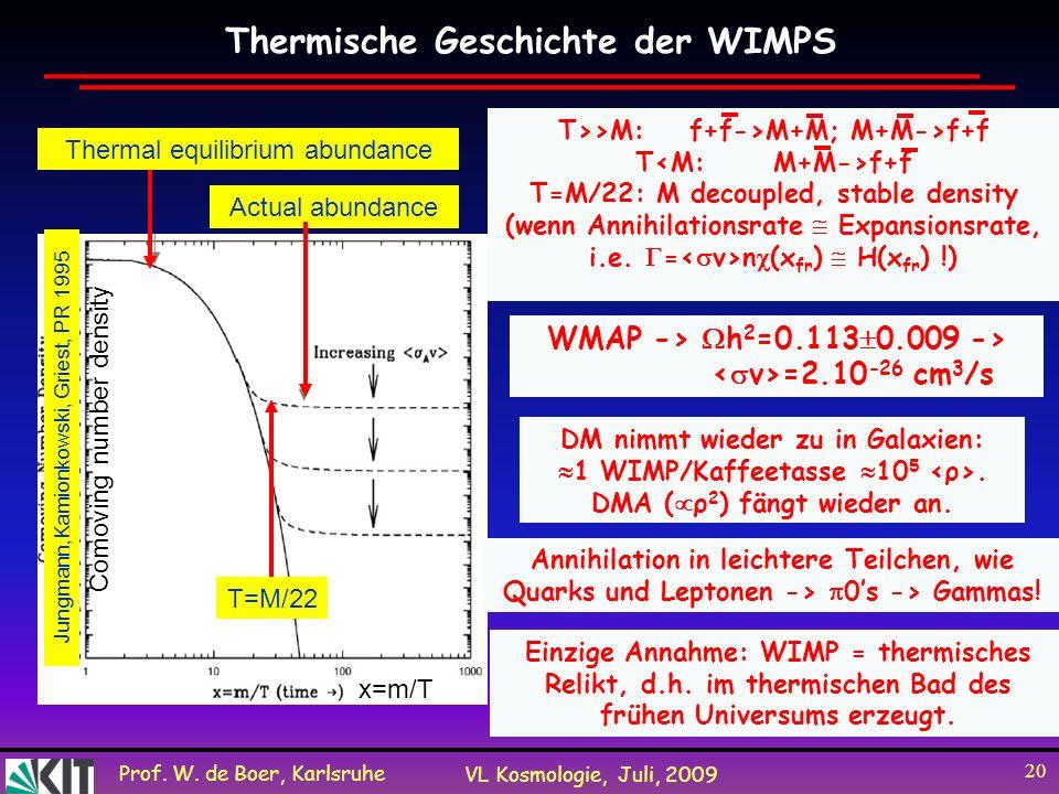 Thermische Geschichte der WIMPS