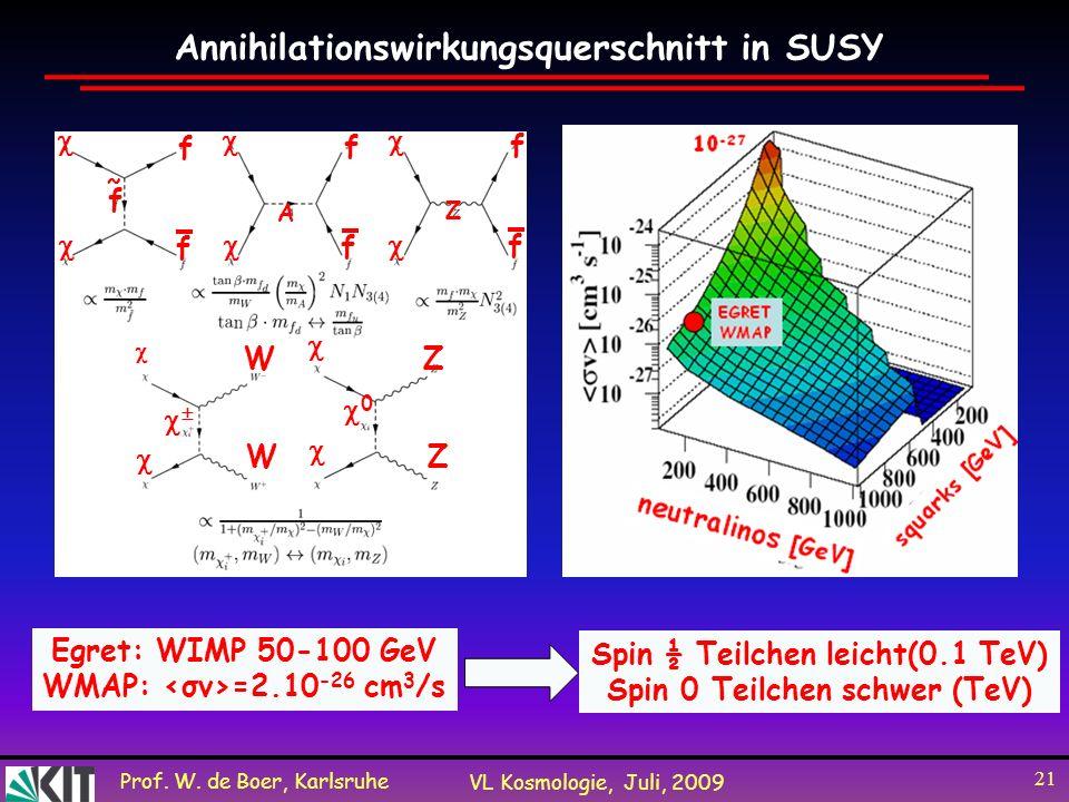 Annihilationswirkungsquerschnitt in SUSY