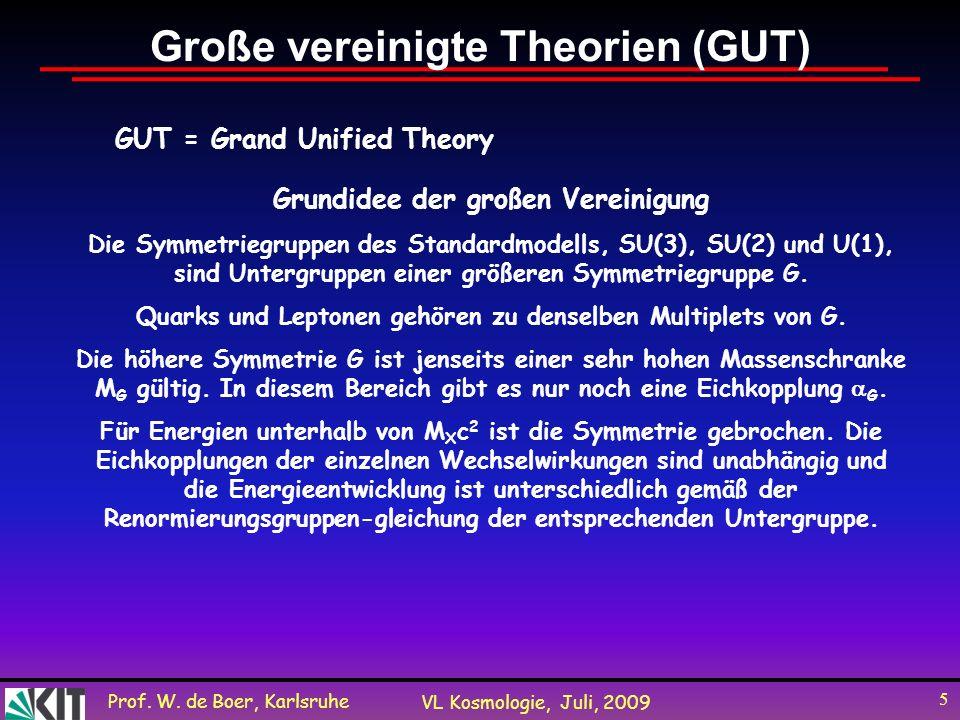 Große vereinigte Theorien (GUT)