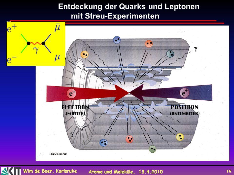Entdeckung der Quarks und Leptonen