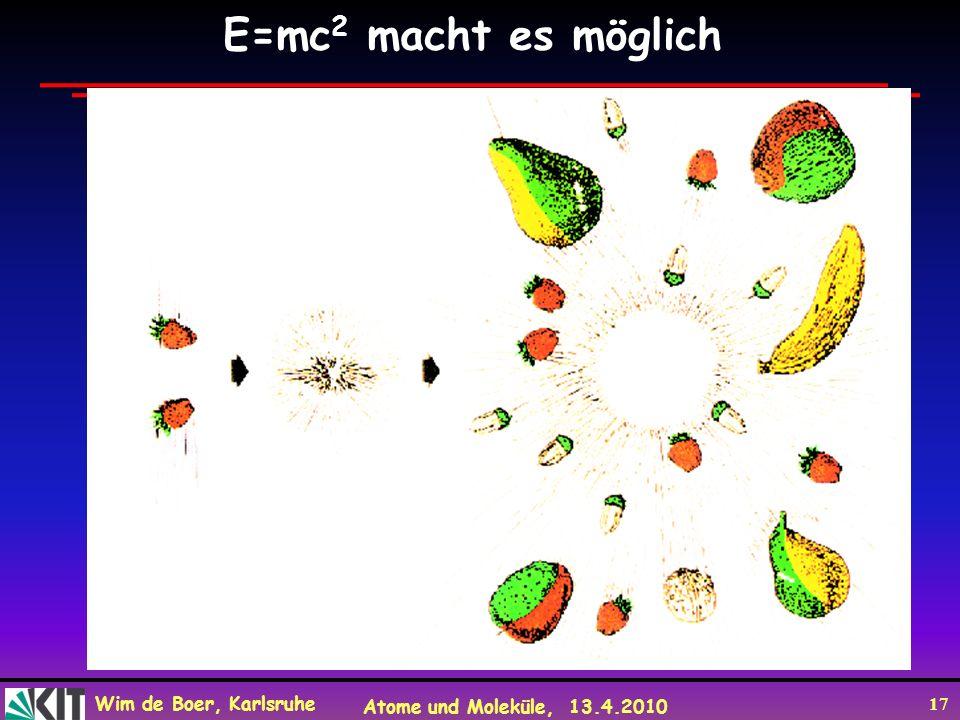 E=mc2 macht es möglich