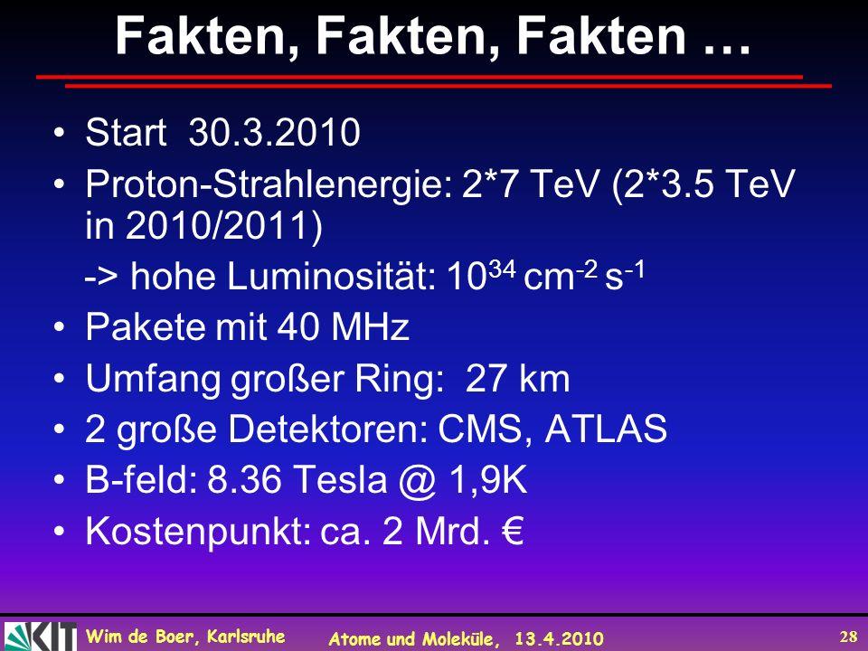 Fakten, Fakten, Fakten … Start 30.3.2010