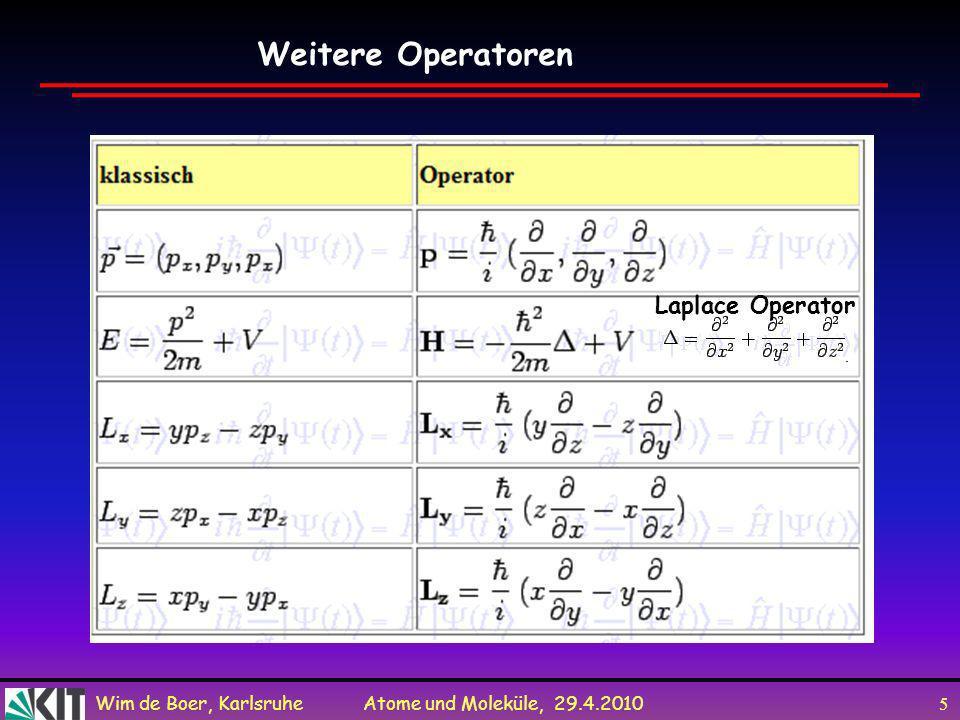 Weitere Operatoren Laplace Operator