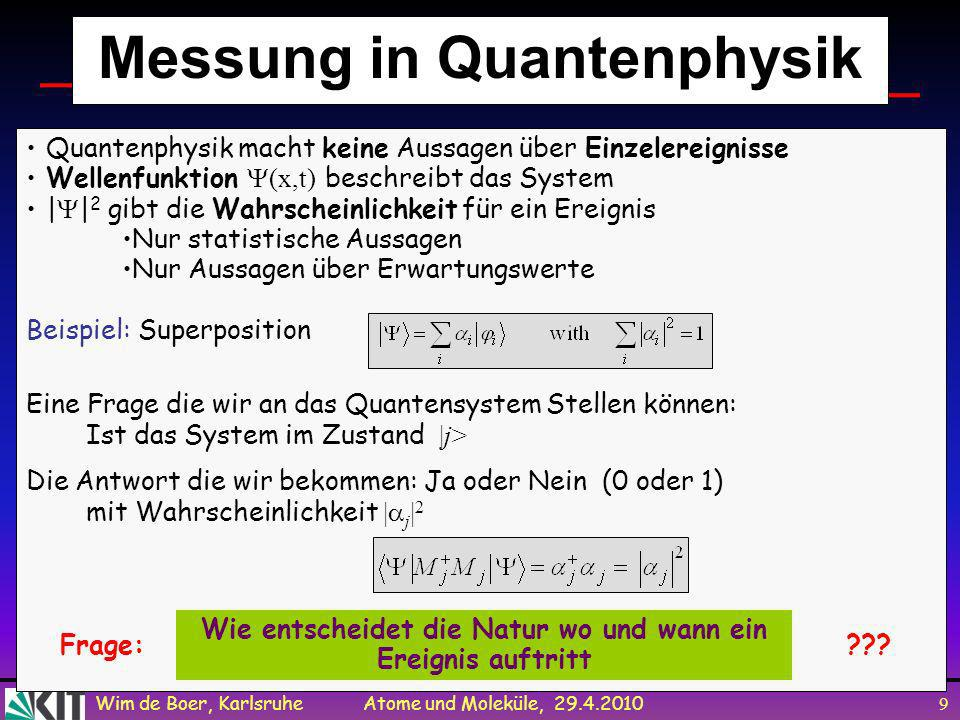 Messung in Quantenphysik