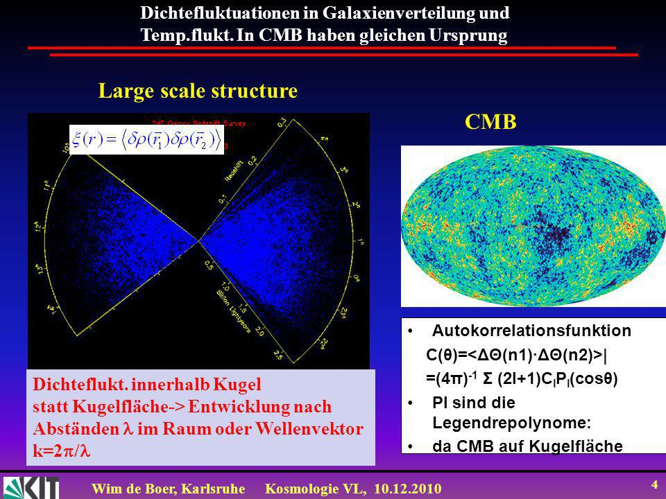 Large scale structure CMB