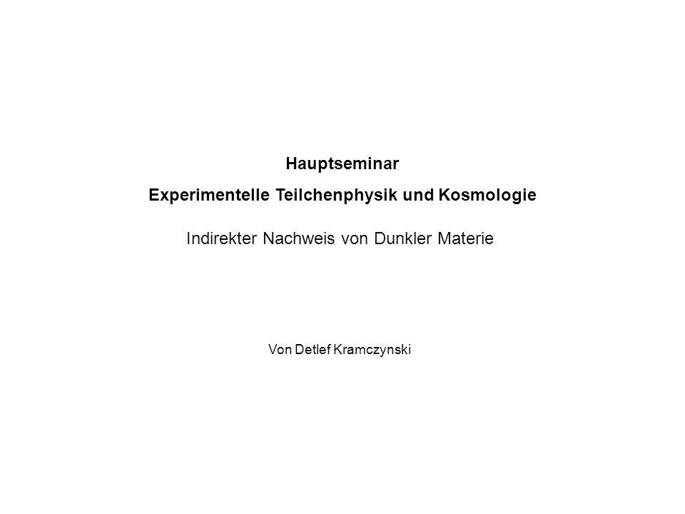 Experimentelle Teilchenphysik und Kosmologie