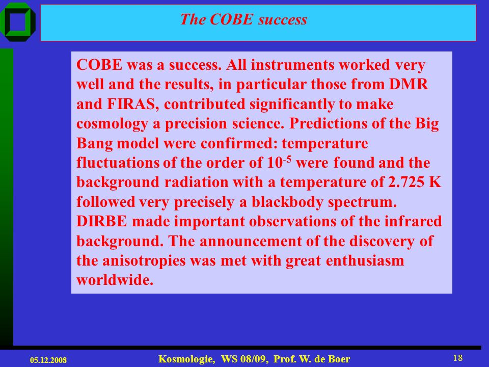 The COBE success