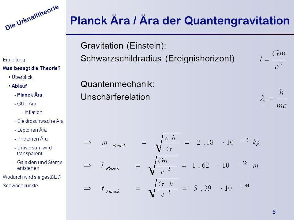 Planck Ära / Ära der Quantengravitation