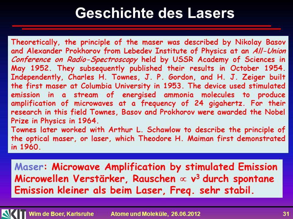 Geschichte des Lasers