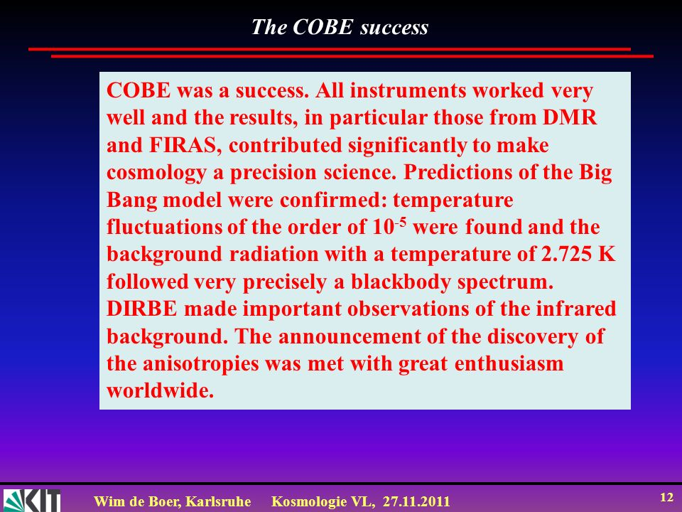The COBE success