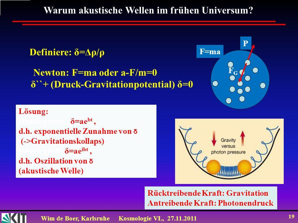 Warum akustische Wellen im frühen Universum