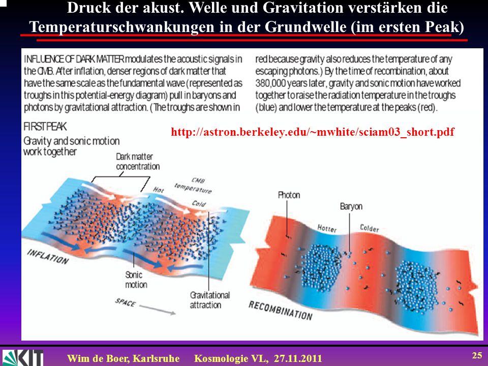 Druck der akust. Welle und Gravitation verstärken die