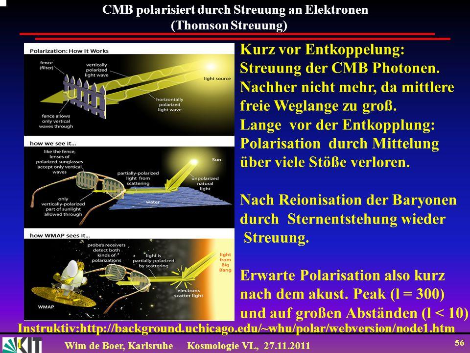 Kurz vor Entkoppelung: Streuung der CMB Photonen.